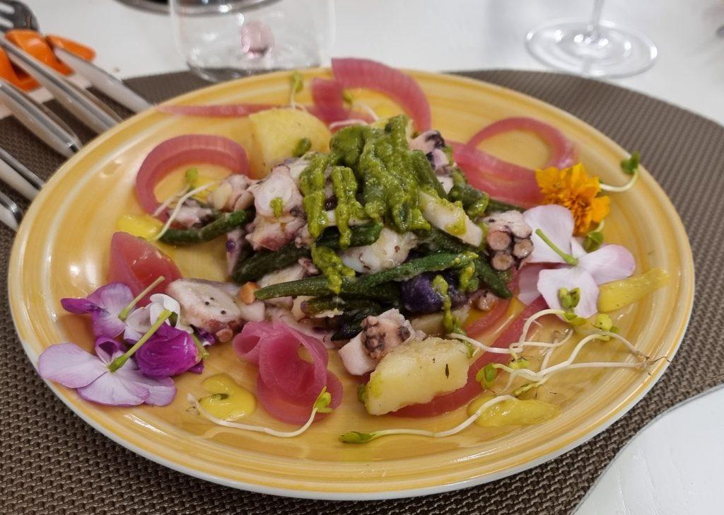 polpo con patate ristorante syncronia salerno